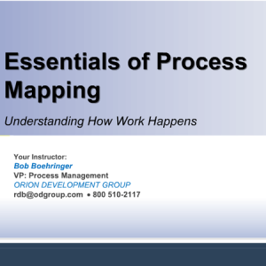 Essentials of Process Mapping